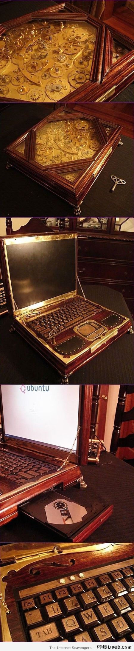 Amazing wooden laptop at PMSLweb.com