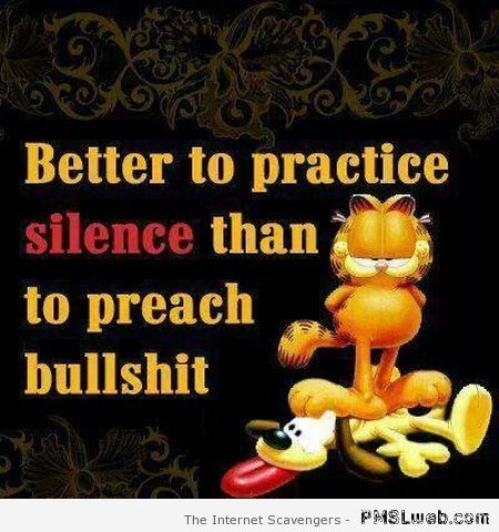 Better to practice silence funny quote at PMSLweb.com