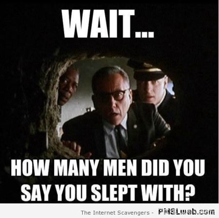 How many men did you say you slept with at PMSLweb.com
