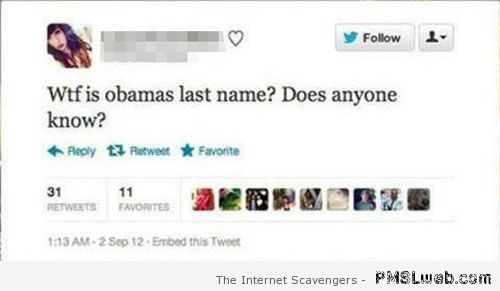 What is Obama's last name – Best of social Media at PMSLweb.com