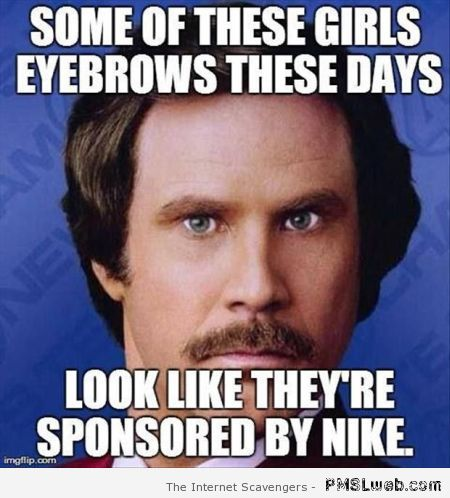 Girl's eyebrows sponsored by Nike at PMSLweb.com