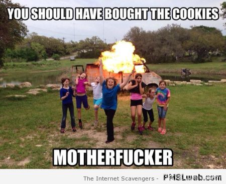 You should of bought the cookies meme at PMSLweb.com