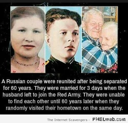 Russian couple reunited after 60 years at PMSLweb.com