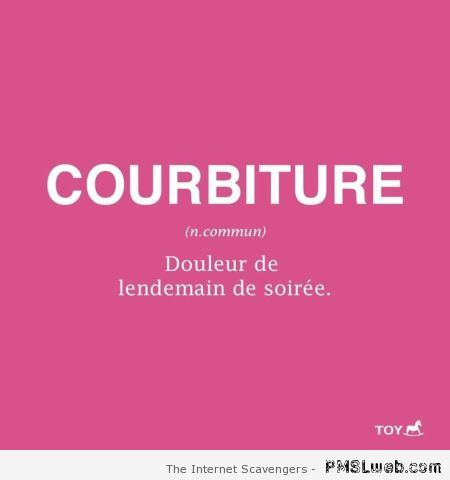 Definition de courbiture humour at PMSLweb.com