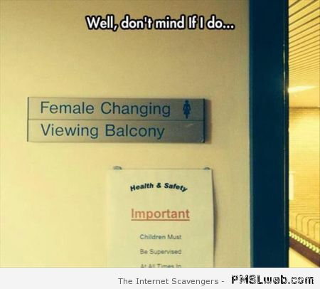 Female changing room sign fail at PMSLweb.com