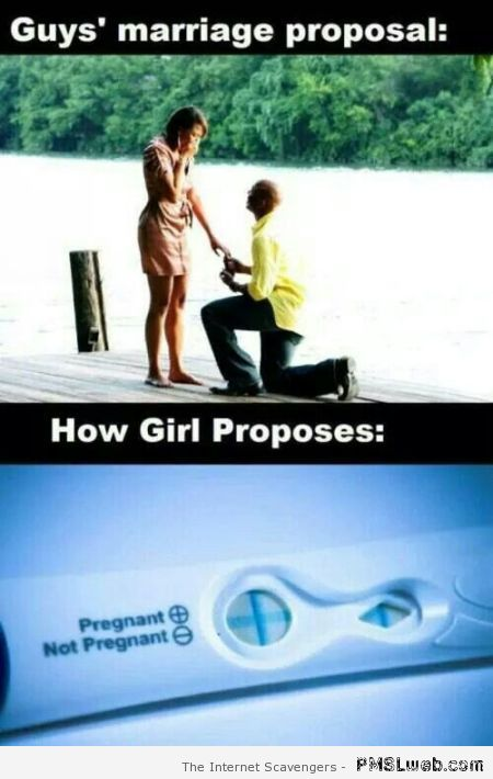 Guy's marriage proposal versus girl's at PMSLweb.com