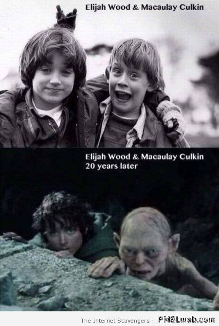 Elijah Wood and Macauley Culkin then and now at PMSLweb.com