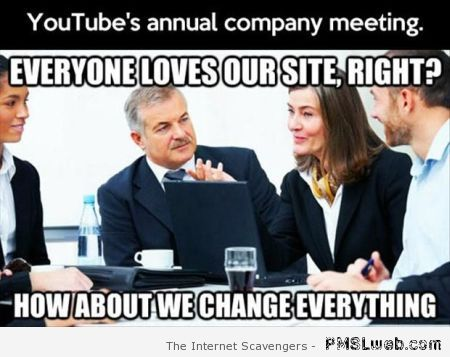 Youtube's annual company meeting humor at PMSLweb.com