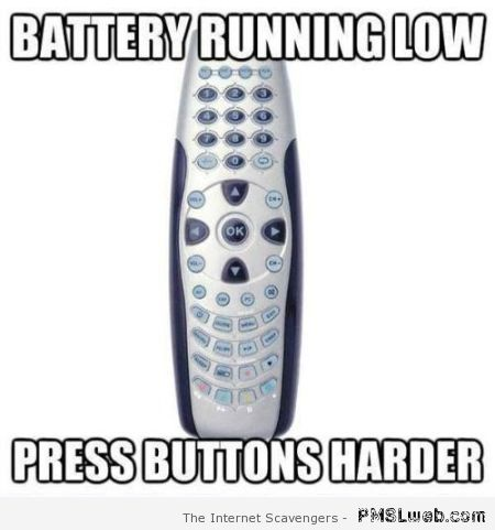 Battery running low meme at PMSLweb.com