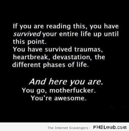 You are awesome funny quote at PMSLweb.com