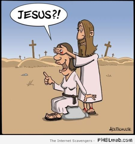 Jesus guess who cartoon at PMSLweb.com