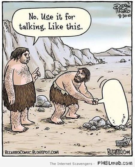Funny prehistoric men language evolution at PMSLweb.com