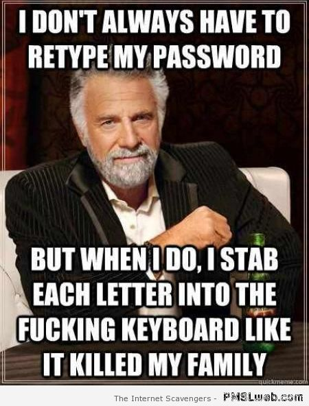 I don't always have to retype my password at PMSLweb.com