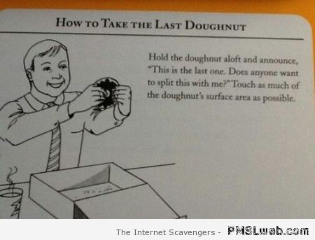 How to take the last doughnut at PMSLweb.com
