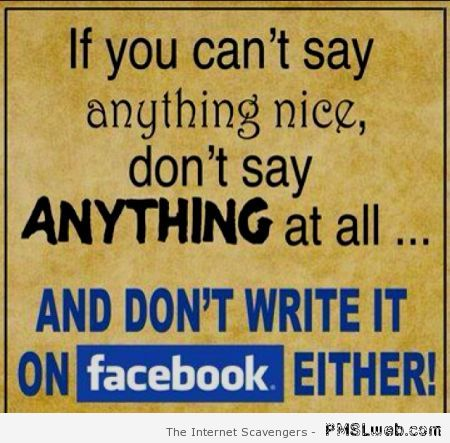 If you can't say anything nice funny quote at PMSLweb.com