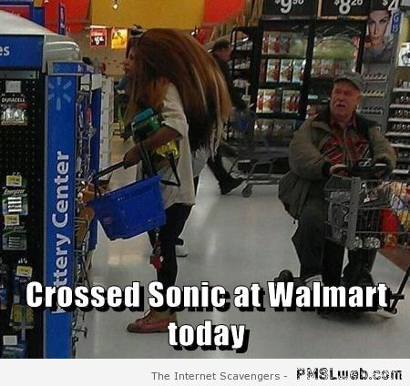 Sonic at Walmart – Monday humour at PMSLweb.com
