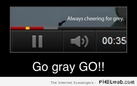 Youtube cheering grey at PMSLweb.com