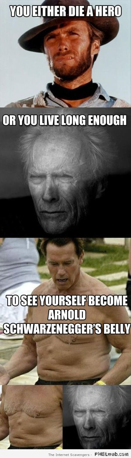 Clint Eastwood and Schwartzenegger's belly at PMSLweb.com