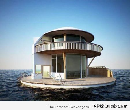 Floating house on the sea at PMSLweb.com