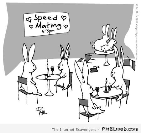 Speed mating cartoon at PMSLweb.com