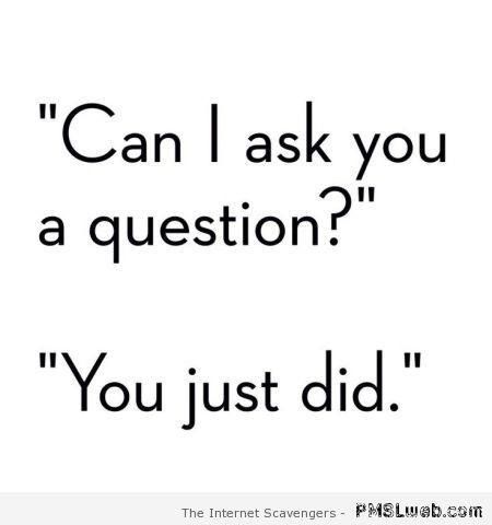 Can I ask you a question humor at PMSLweb.com