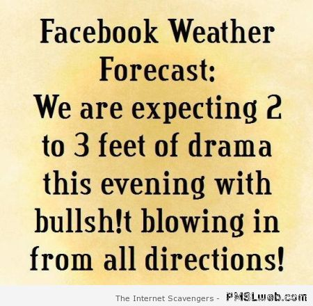Facebook weather forecast at PMSLweb.com