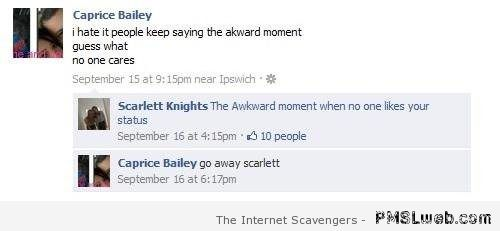 The awkward moment Facebook funny at PMSLweb.com
