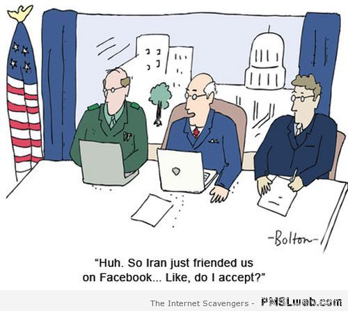 Iran just friended us on Facebook funny at PMSLweb.com
