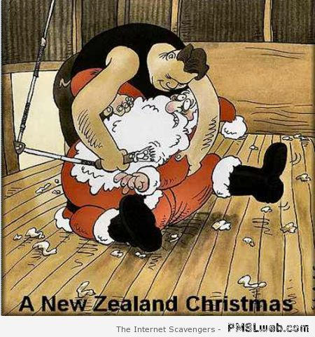 New Zealand Christmas humor at PMSLweb.com