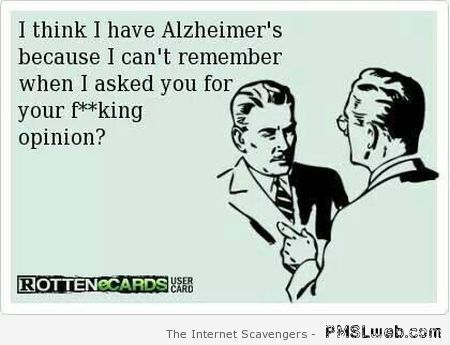 I think I have Alzheimer's ecard at PMSLweb.com