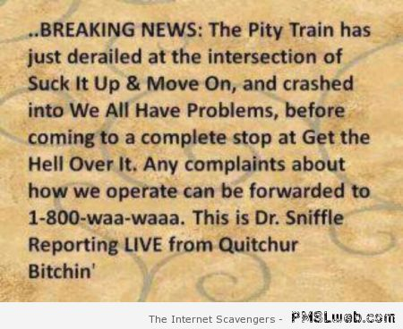 Sarcastic breaking news at PMSLweb.com