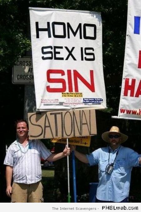 Homo sex is sin sational at PMSLweb.com
