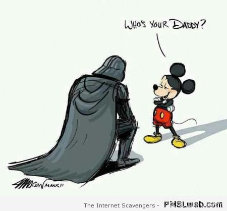 Who's your Daddy Mickey and Darth Vader at PMSLweb.com