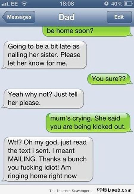 Nailing her sister funny autocorrect at PMSLweb.com