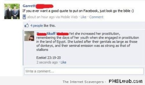 Bible Facebook fail  - Best of social network at PMSLweb.com