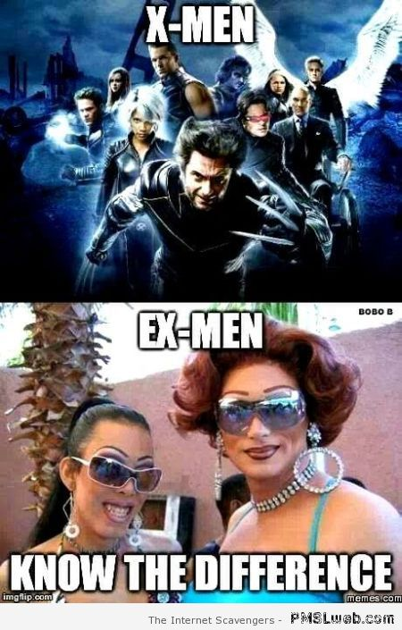 X-men versus ex-men meme at PMSLweb.com