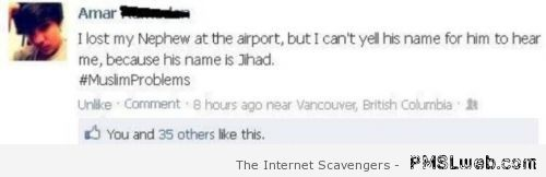 Muslim problem nephew called Jihad – Best of social media at PMSLweb.com