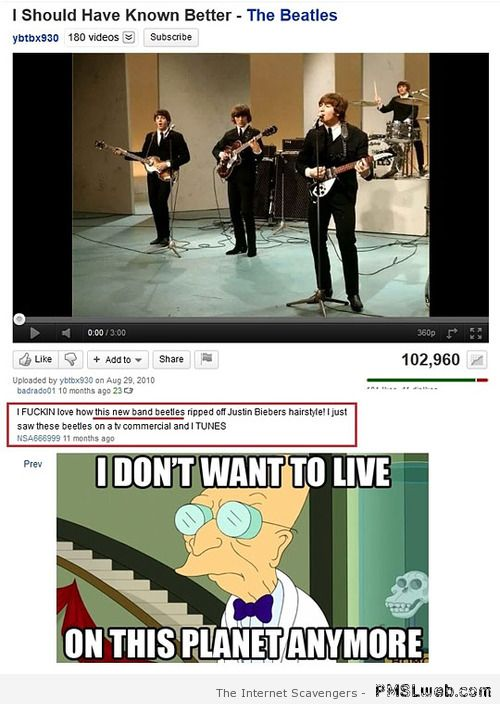 Beatles copying Bieber Youtube – Best of Social media at PMSLweb.com