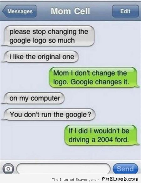 Stop changing the Google logo funny iPhone at PMSLweb.com