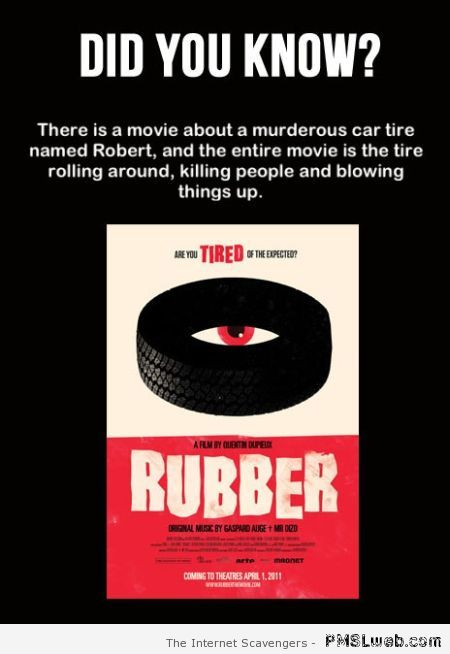 Rubber the movie at PMSLweb.com
