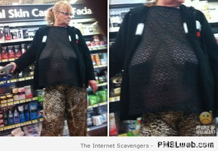 Saggy boobs in walmart at PMSLweb.com