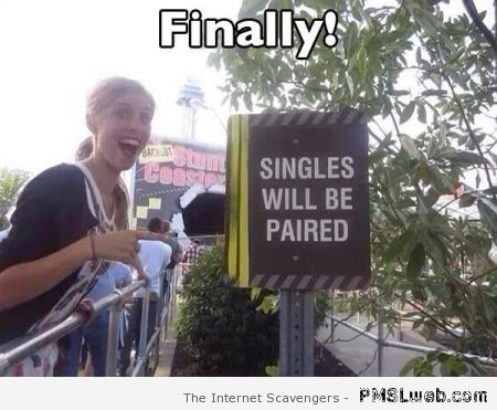 Singles will be paired – Wednesday humor at PMSLweb.com