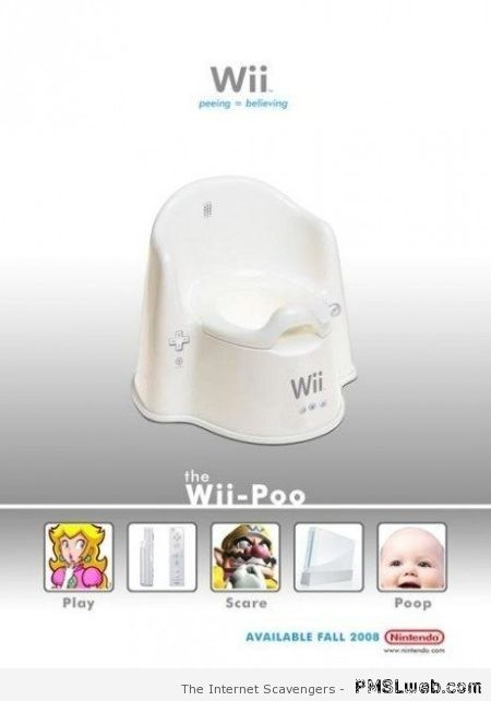 Funny wii poo – Hilarious TGIF at PMSLweb.com
