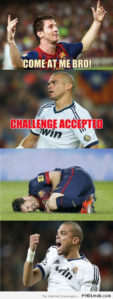 Messi challenges Pepe meme at PMSLweb.com