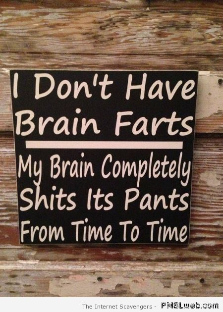 Brain farts humor – Monday laughter at PMSLweb.com