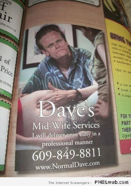 Funny mid-wife services at PMSLweb.com