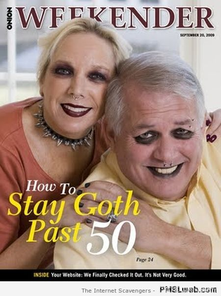How to stay goth past 50 at PMSLweb.com