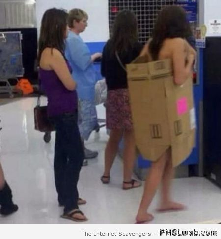 Cardboard box fashion in walmart at PMSLweb.com