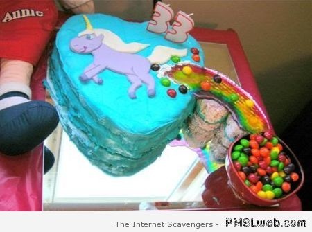 Funny unicorn cake at PMSLweb.com