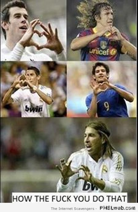 Sergio Ramos heart sign fail at PMSLweb.com
